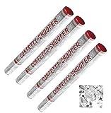 3 Stück + 1 gratis Konfetti-Shooter silber metallic Konfetti 7 m Reichweite