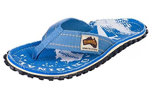 Gumbies Islanders Sandales Adulte Tongs Plage Chaussures Numéro 36 - 12 Uk Blanc / Bleu