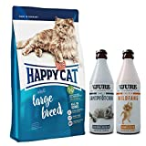 Happy Cat Adult Large Breed 10 kg + 1 x TJURE Zartes Samtpfötchen + 1 x TJURE Frecher Wildfang