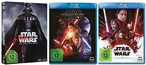 Star Wars Teil 1-8 (Teil 1+2+3+4+5+6+7+8) [Blu-ray Set] (Star Wars Blu-ray Set)