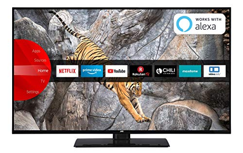 JVC LT-40V65LUA 102 cm (40 Zoll) Fernseher (4K Ultra HD, HDR10, Dolby Vision HDR, Triple Tuner, Smart TV, Bluetooth) (40 4k Tv)
