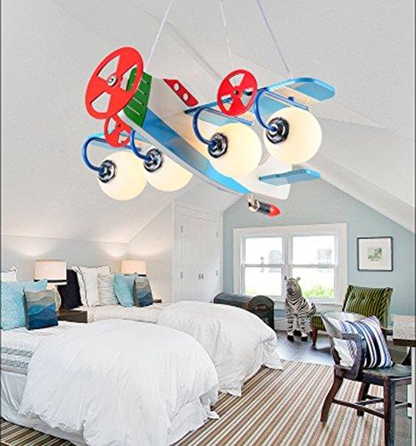 Flugzeug Kronleuchter LED-Lampe kreative Kinderzimmer Jungen und Mädchen Schlafzimmer Raumlampe modernen minimalistischen Karikatur - 2