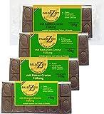4x Paleo Schokolade - 4 verschiedene Sorten - 4 verschiedene Creme-Füllungen Laktosefrei Glutenfrei Milchfrei