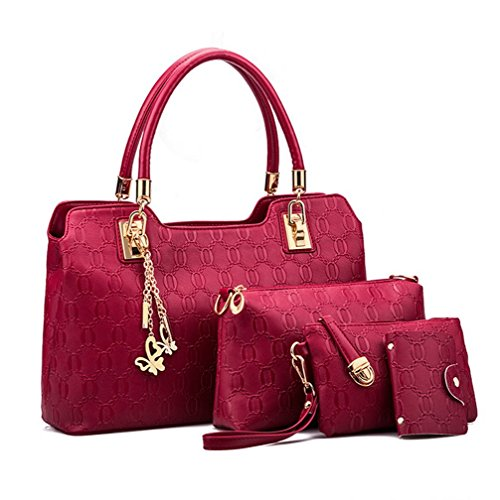 Yiyida, Borsa a mano donna rosso Red Red