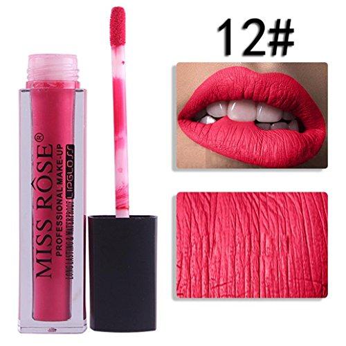 GreatestPAK Flüssiger Lippenstift Feuchtigkeitscreme Samt Lippenstift Kosmetische Schönheit Bilden