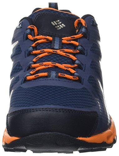 Columbia Ventrailia 3 Low Outdry, Chaussures de Randonnée Basses Homme Bleu (Zinc, White)
