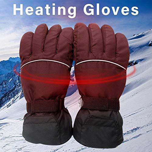 Elektrische Handschuhe 4.5V Batterie Box Power Elektrische beheizte Handschuhe Supply Ski Windproof Cotton Heizhandschuhe Five Fingers Hand Back -