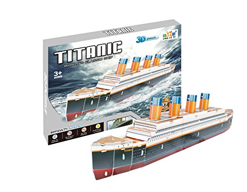 Toyhouse Titanic 3D Puzzle, Multi Color