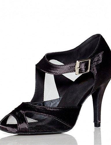 ShangYi Chaussures de danse(Noir / Rouge) -Personnalisables-Talon Personnalisé-Satin-Latine / Jazz / Salsa / Samba / Chaussures de Swing Red