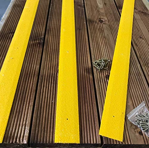 antidérapante pour terrasse Bande 1000 mm x 50 mm Noir Beige Vert/jaune/gris Marron jaune