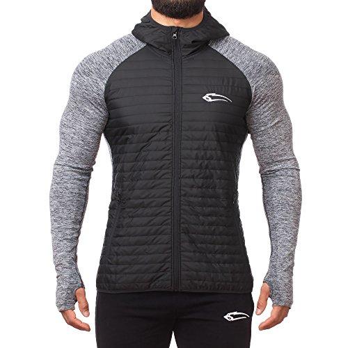 SMILODOX Premium Seamless Padding Jacke | Slim Fit Laufjacke für Herren | Wärmeisolierende & Atmungsaktive Steppjacke ideal für Sport & Outdoor - Keep, Farbe:Schwarz, Größe:M - Premium Atmungsaktive Jacke