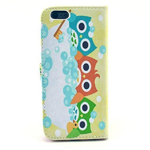 "Monkey Cases® iPhone 64,7""- Flip Case-Maison-Hiboux-Premium-Original-Neuf-Housse"