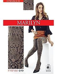 Marilyn Snake Muster, blickdichte Strumpfhose, 100 Denier