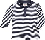 Schnizler Unisex Baby Sweatshirt Langarmshirt Marine Geringelt, Oeko-Tex Standard 100, Blau weiß 171, 86
