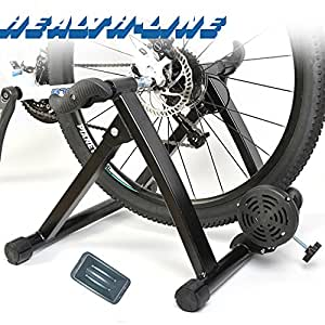 Magnetic Folding Turbo Trainer for Cycling Bike Bicycle Black Wireless Healthline