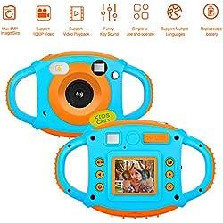 Kids Caméra Enfants Caméra Appareil Photo Numérique pour Enfant avec 1,77 HD Écran Couleur 5Mp Rechargeable Mini Caméras Vidéo Numériques Cadeau Parfait pour Les Enfants
