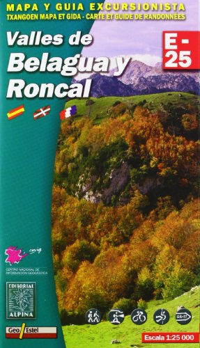 Valles de Belagua y Roncal, mapa excursionista. Escala 1:25.000. Español, Français, Euskara. Alpina Editorial. (Mapa Y Guia Excursionista)