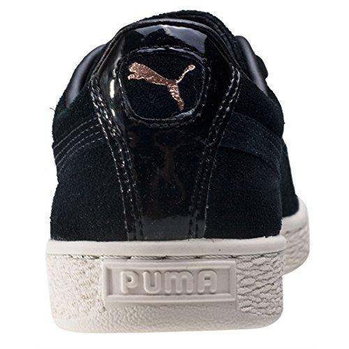 Puma Suede Xl Lace Vr, Scarpe da Ginnastica Basse Donna, Olive Night Nero (Black-black)
