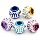 100pcs rond en aluminium mixte Perles Charms Bijoux Apprêt 9mm - 2