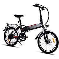 bridene Vélo Electrique Femme Electrique 20'E-Bike VTT Velo MTB Lampe LED Design Max 35km/h Batterie Li-on 250W 8Ah 36V
