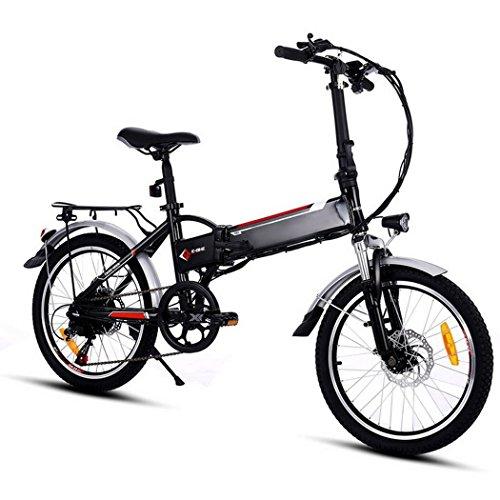 Teamyy Bicicleta Eléctrica de Montaña Bicicleta Plegable Rueda de 20 pulgadas 250W / 7 de velocidad