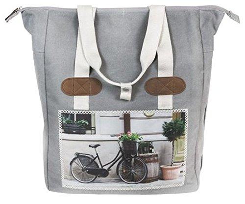 FastRider Shoper cyclo grau Fahrradtasche Gepäckträger Einzel Tasche Packtasche