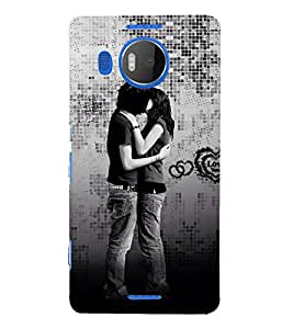Beautiful Kiss moment 3D Hard Polycarbonate Designer Back Case Cover for Nokia Lumia 950 XL :: Microsoft Lumia 950 XL