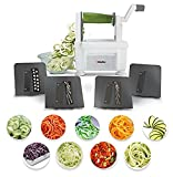 Müeller Spiral-Pro Professional 4-Blade Spiralizer, Newest Superior Design, Highest Rated Spiralizer, Only 4-Blade to Make Round Veg Pasta, Not Flat Julienne Noodles