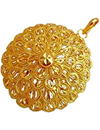 BFC- Traditional Ethnic One Gram Gold Plated Flower Designer Pendant For Woman And Girls