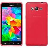 TBOC Coque Gel TPU Rouge pour Samsung Galaxy Grand Prime G530 en Silicone Souple Ultra Mince Etui Housse