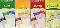 Bigelow Assorted Herb Teas - Pack of 72 Tea Bags - Mint, Fruit, Berry, Chamomile