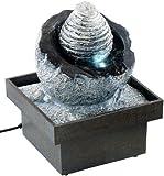 infactory Raumbefeuchter-Brunnen: Zimmerbrunnen Wasserspiel mit Pumpe und LED, ca. 17 cm (Zimmers-Springbrunnen)