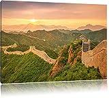 Chinesische Mauer, Format: 120x80 auf Leinwand, XXL riesige