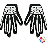 Aptafêtes–ac2275–Handschuhe Skelett Stoff gedruckt Erwachsene