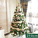 KELE Dekoration Künstlicher Weihnachtsbaum, Schmale Kiefer PVC Fichte Baum Mit metallständer Sapin de Noel Bois Nationalbaum Einfache Montage 210cm(7ft)-C 210cm(7ft)