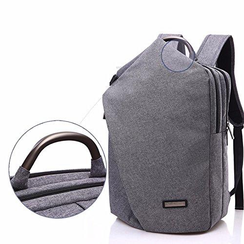 großer reisetasche, männliche 15 cm,dunkelgrau gray