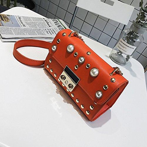 Beutel Der Frauen Liu Nagel Kleinen Quadratischen Paket Arbeiten Schulterbeutel Einfache Kette Diagonal Paket Rot