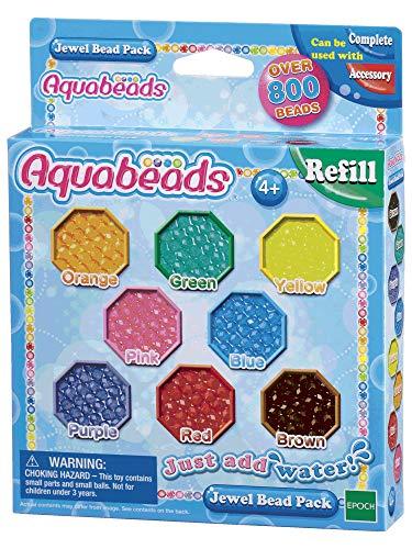 Aquabeads 79178 Glitzerperlen, Kinder Bastelset Nachfüllpack