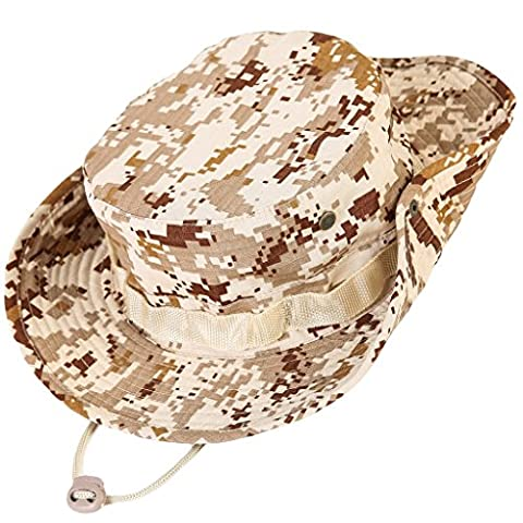 Kolumb Unisex Military Boonie Hat- Premium Soft Cotton & Polyester Fabric, Sturdy Stitching Wide Brimmed Mens & Womens Boonie Hat- Top Camo Bucket Hat In Attractive Colors For Sports Fishing