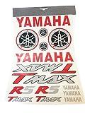 Kit Adesivi Yamaha T-Max scritte e loghi rosso/ner