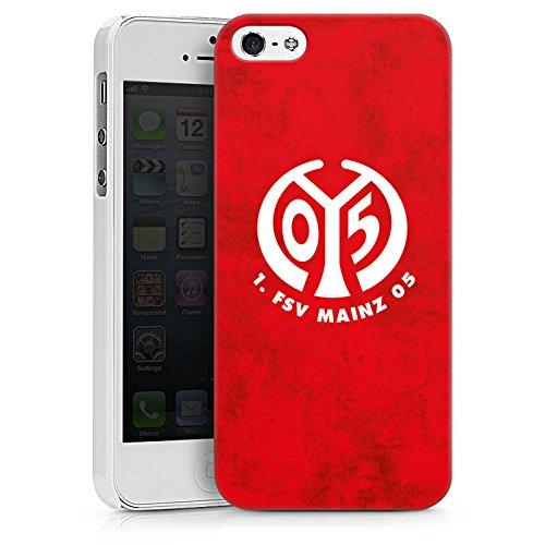 Apple iPhone 6 Hülle Premium Case Cover 1. FSV Mainz 05 e.V. Fußball Bundesliga Fanartikel Hard Case weiß