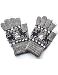7ce2e9e164804b ZHANGYUGEGE Männer Frauen Weihnachten Winter warm Gestrickt Wapiti Pint  Bildschirm Cute Handschuhe Kinder Handschuhe Männer…
