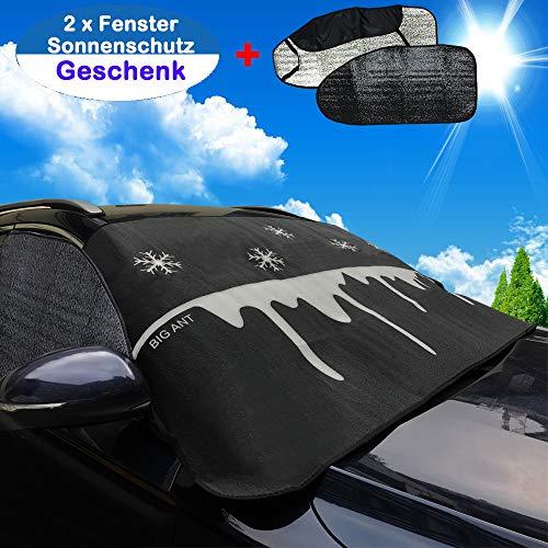 Sonnenschutz Auto Abdeckplane Auto Autoabdeckung Frontscheibenabdeckung schutzt Windschutzscheibe und Fenster gegen UV-Strahlung, Schnee, EIS, Frost und Sonne Anpassend für die meisten Fahrzeugmodelle
