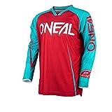 O'Neal Mayhem Lite Jersey Blocker Rot Blau MX MTB DH Trikot Motocross Cross Motorrad, 0030A-30, Größe M