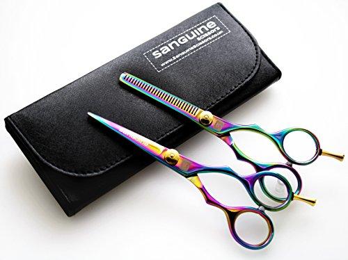 set-of-titanium-hair-scissors-and-hair-thinning-scissors-55-inch-14cm-presentation-case