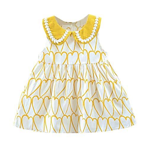squarex Kleinkind Kind Baby Mädchen Herz gedruckt Blumen Rock Party Kleid Prinzessin Kleid Kleidung Sommer Casual Dress - Fleece-pyjamas-herz