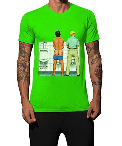Iacobuccyounes Herren T-Shirt Verde acido