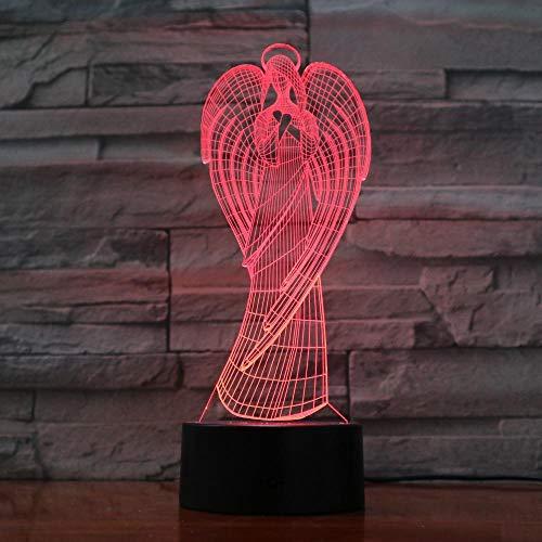 Engelsflügel LED Lichter USB 3D Lichter 7 Farben Touch Fernbedienung Schlafzimmer Lichter Atmosphäre dekorative Lichter Neuheit Geschenke @ Touch-Schalter