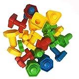Kind Früherziehung Spielzeug Kreative Schraubenmuttern und Bolzen stellten Spielzeug-Bunte Spielwaren für Kind EIN