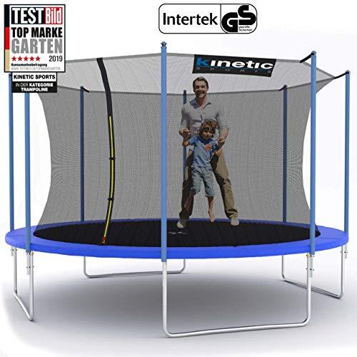 Kinetic Sports Outdoor Trampolin TPLH13 Gartentrampolin für Kinder und Erwachsene mit Randabdeckung und Sicherheitsnetz Ø 400 cm